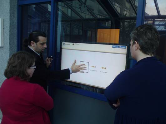 Mihai Bilauca, Limerick City Council, demonstrating the DIEGO platform in City Hall
